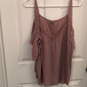 Charlotte Russe Large shoulder-less blouse